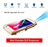 Portable Movie Projector,Wireless WiFi Mini Pocket DLP Pico Video Projectors Support Wi-Fi HDMI USB for iPhone X/8/7/6/6s Plus Smart Phones Projector