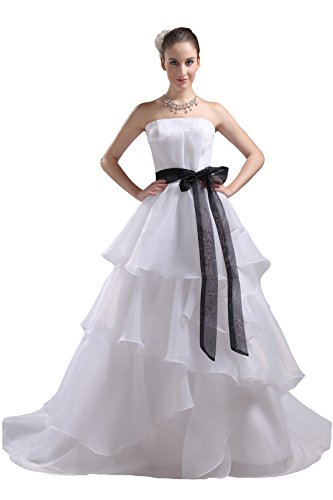 61w7dZDL81L Organza wedding dresses Built-in bra. Dry clean only. Custom-made, Color-change Available