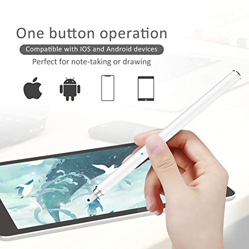 413ndstbfgL - AWAVO Stylus Pens for Apple iPad Capacitive Rechargeable Digital apple pencil with 1.5mm Ultra Fine Tips and magnetic charging port, Compatible with Apple iPad/iPhones/Tablets[work for IOS Android]