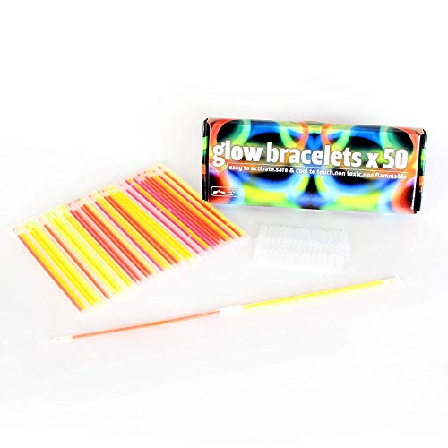 FoxPrint Glow Sticks 50 in a Pack