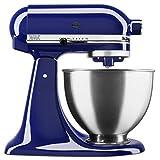 KitchenAid KSM88BU Deluxe 4.5 Quart 10-Speed Tilt-Head Stand Mixer, Cobalt Blue