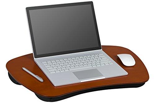 LapGear XL Executive Wood Lap Desk - Mahogany (Fits up to 17.3' Laptop) - Style #45188