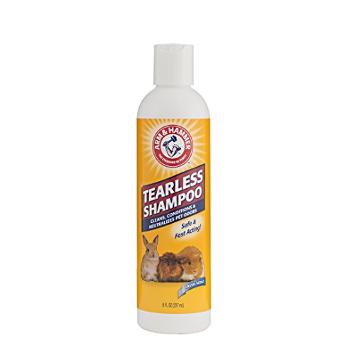 Arm & Hammer Tearless Shampoo for Small Animals | Safe for Use Around Guinea Pigs, Hamsters, Rabbits & All Small Animals, 8 ounces, Fresh Scent