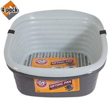 Pet-Mate-42036-Arm-Hammer-Large-Sifting-Litter-Pan-4-Pack