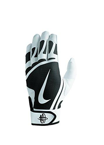 Nike Men's Huarache Edge Batting Gloves White/Black Size X-Large