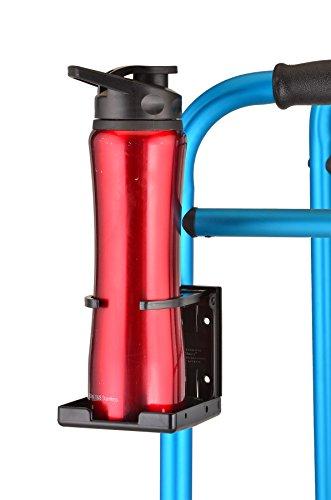 NOVA Cup Holder for Walker, Rollator, Transport Chair, Wheelchairs - Universal Fit, Adjustable & Foldable Drink Holder