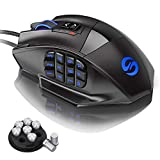 UtechSmart Venus Gaming Mouse RGB Wired, 16400 DPI High Precision Laser Programmable MMO Computer Gaming Mice [IGN's Recommendation]