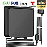 Coolmade 120Miles Directional TV Antenna - Indoor High Reception Amplified HDTV Antenna for TV Signals High Reception Digital TV Antenna for 4K/VHF/UHF/1080P Free Channels 13ft Coax