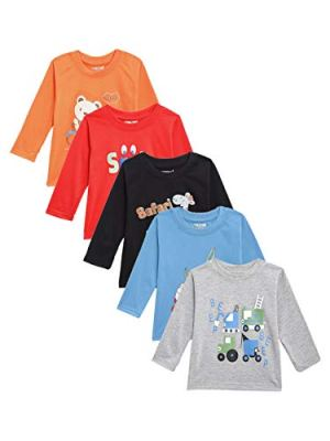 Kuchipoo Boys' T-Shirt (Pack of 5)