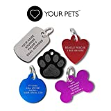 Love Your Pets Deep Engraved Stainless Steel Pet ID Tags - Over 6 Million Sold-Now Selling on Amazon! 48 Choices - Stainless Steel, Brass & Aluminum Pet Tags, Dog Tags & Cat Tags - Made in The USA