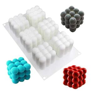 Bontand Magic Cube Silicone Cake Mold Reusable Candy Making Mold Ice Cube Trays Candies Making Supplies 41491fQ0h4L