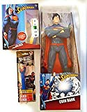 Kids Headphones and Coin Bank Both Superman and Superman PEZ Dispenser and Candy