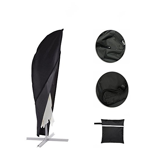 Parasol Cover, Patio Offset Umbrella Cover with Zipper Waterproof Fits 9ft to 13ft Banana Cantilever Parasol Umbrellas