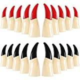 Boao 20 Pieces Zombie Witch Fake Finger Nail Fake Finger Claws Scary Halloween Props for Halloween Cosplay Party Costume Accessory
