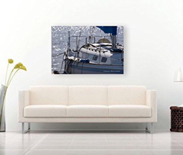 Amazon Com Sailboat Photographic Print On Canvas Nautical Decor