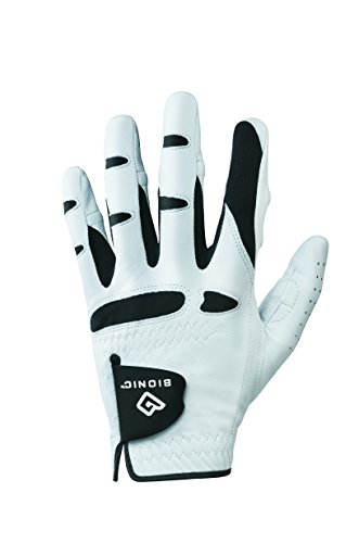 BIONIC Gloves -Men's StableGrip Golf Glove W/Patented Natural Fit Technology Made from Long Lasting, Durable Genuine Cabretta Leather.
