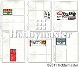 Hobbymaster Coupon Binder Pages - 50 Page Assortment + Bonus Sleeve