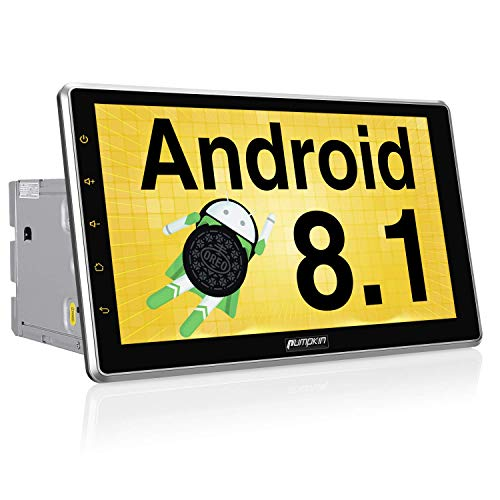 PUMPKIN 10.1 Inch Android 8.1 Car Stereo Radio Double Din with GPS Navigation, WiFi, Support Fastboot, Backup Camera, Android Auto, Detachable Touch Screen, USB SD