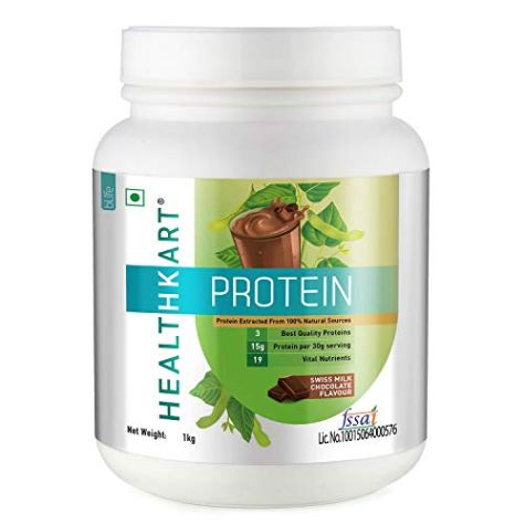 NOURIZA Healthkart Protein-50% Protein with Whey and Casein (Chocolate-1 Kg)