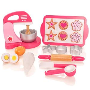 Milly & Ted Wooden Biscuit Baking Kitchen Playset – Childrens Pretend Play Food Wood Set 414YyTgKO3L