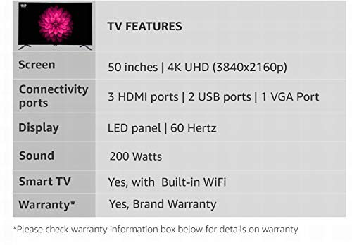 Onida 124.46 cm (50 Inches) 4K UHD LED Smart TV 50UIB (Black) 3