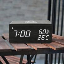 Wooden-Digital-Alarm-Clock-with-Wireless-Charging-3-Alarms-LED-Display-Sound-Control-and-Snooze-Dual-for-Bedroom-Bedside-Office