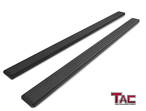 TAC 5' i4 Running Boards Side Step Nerf Bars Black Fit 2015-2019 Chevy Colorado Crew Cab / GMC Canyon Crew Cab Rock Panel Off Road Exterior Accessories (2 Pieces Running Boards)