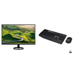 Acer-R271-bid-27-inch-IPS-Full-HD-1920-x-1080-Display-VGA-DVI-HDMI-PortsBlack-Logitech-MK345-Wireless-Combo-Full-Sized-Keyboard-with-Palm-Rest-and-Comfortable-Right-Handed-Mouse-Black