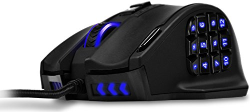 UtechSmart Venus Gaming Mouse RGB Wired, 16400 DPI High Precision Laser Programmable MMO Computer Gaming Mice