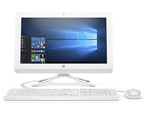 HP 20-inch All-in-One Computer, Intel Celeron J4005, 4GB RAM, 1TB Hard Drive, Windows 10 (20-c410, White)