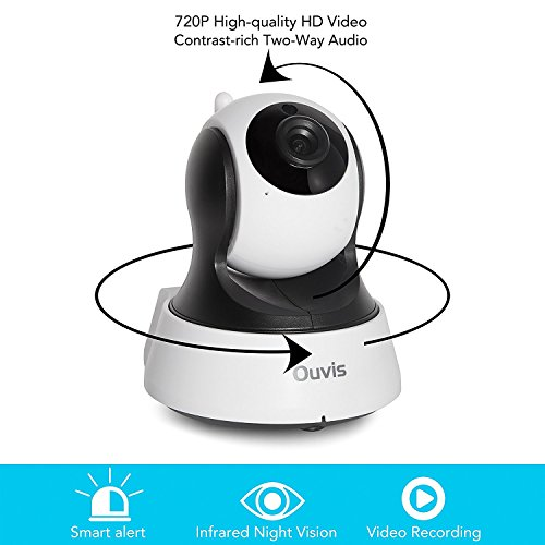 Ouvis V3 Wireless Security Camera, 720P WiFi IP Camera Home Surveillance  Camera Pan Tilt with Two-Way Audio, Night Vision, Motion Detection, Baby  Pet