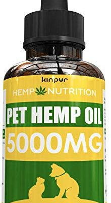 (2 Pack) Hemp Oil for Dogs and Cats – 500,000 – Calming Mood – Hip and Joint Support – Natural Pet Hemp Oil with Omega 3…