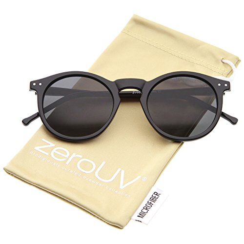 d2e71e367e zeroUV - Retro Horn Rimmed Keyhole Nose Bridge P3 Round Sunglasses ...