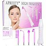 High Frequency Facial Machine, APREUTY Portable Handheld High Frequency Device Violet Ray Argon Acne for Personal Beauty Skin Tightening Acne Spot Wrinkles Remover Therapy Puffy Eyes Body Care