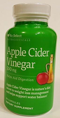 Rx Select - Apple Cider Vinegar (500 mg) 90 capsules 1
