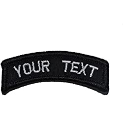 Customizable Text Tab Patch w/ Hook Fastener Morale Patch - Black