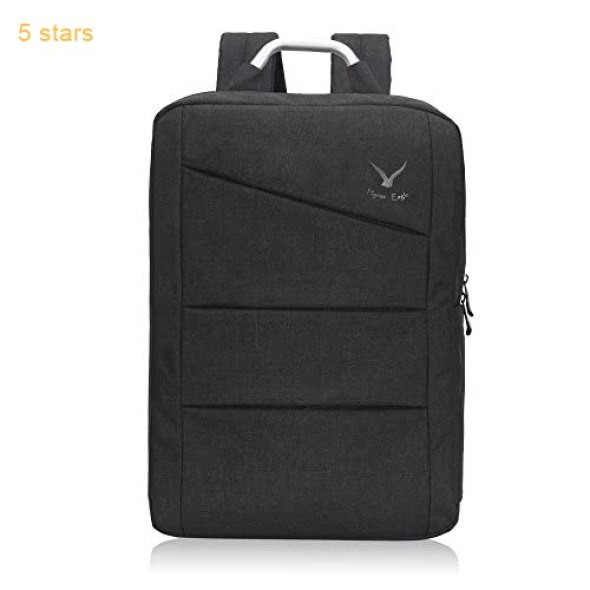 35603192f801 Hynes Eagle Water Ressistant Office Backpack Travel Business Bag College  School Laptop Backpack Large 17 inch Black