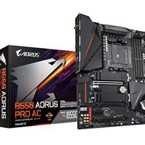 GIGABYTE B550 AORUS PRO AC (AM4 AMD/B550/ATX/Dual M.2/SATA 6Gb/s/USB 3.2 Gen 2/Intel Dual Band 802.11AC WiFi/2.5 GbE LAN…