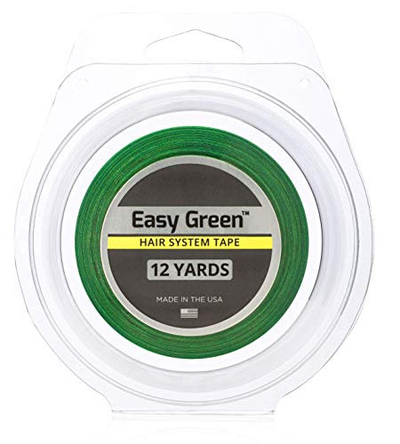 Walker Tape Lace Tape For Wigs And Toupee, Clear, 12 Yard, 1/2 inch, Easy Green Hair System Tape (Replaces the Lace Front Blue Tape With Improvements)