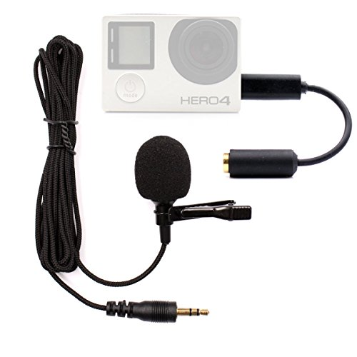 Microphone for Gopro, PANNOVO 3.5mm mini Mic microphone Adapter accessories for Gopro hero 3 3+ 4