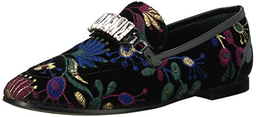 415%2BgANXzyL Slip-on shoe with botanical brocade and strap featuring gem-like accents Minimal heel