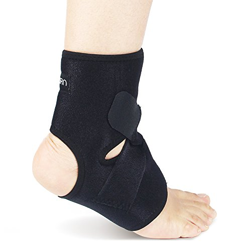 Astorn Ankle Brace & Achilles Tendon Support Sleeve | Adjustable One Size Fits All Ankle Support Wrap for Plantar & Achilles Support | Breathable Neoprene Tendinitis Ankle Brace