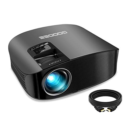 Projector-GooDee-2020-Upgrade-HD-Video-Projector-Outdoor-Movie-Projector-230-Home-Theater-Projector-Support-1080P-Compatible-with-Fire-TV-Stick-PS4-HDMI-VGA-AV-and-USB-Black-YG600