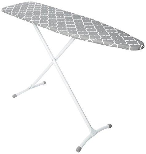 Homz Steel Ironing Board Contour Grey & White Lattice Cover