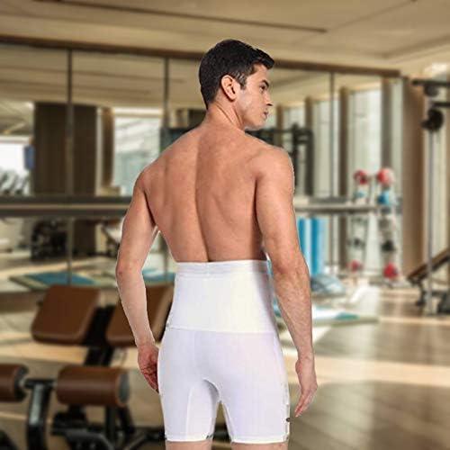Men Tummy Control Shorts High Waist Training Compression Shaper Pants Body Shaper Seamless Belly Girdle Boxer Briefs 8