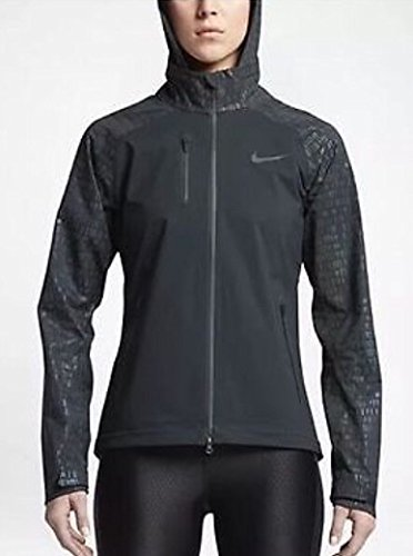 4158JjY7uML Size Medium 100% Polyester Nike HyperShield fabric and sealed seams helps keep out the elements and detachable hood for custom coverage