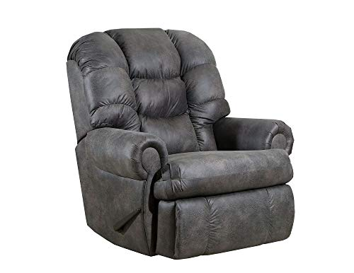 4501L Lane Stallion Big Man Comfort King (Large) Wallsaver Recliner in D. Charcoal. Made for The Big Guy Or Gal. Rated for Up to 500 Lbs. Extended Length. 79 Inches. Seat Width. 25 Inches.