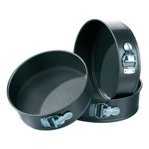3pc Cake Tin Set,Spring Form,Non-Stick Carbon Steel 4159L5 2BX2mL