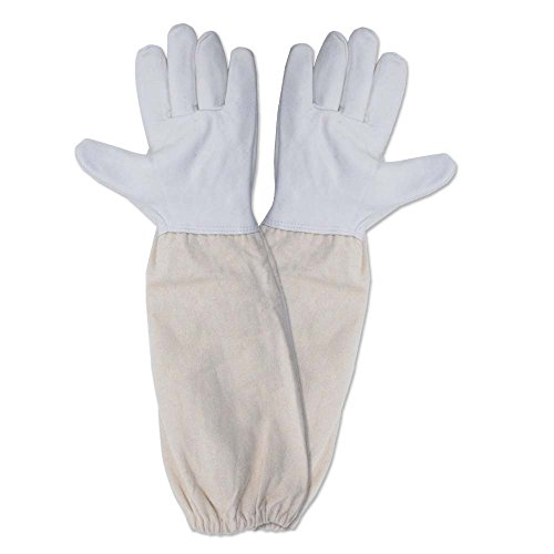 KINGLAKE® Beekeeping Gloves Goatskin A Pair of Beekeeping Protective Gloves with Vented Sleeves Large Perfect for the Beginner Beekeeper