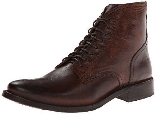 415CeUau7CL Relaxed ankle boot with lightly weathered finish Debossed logo at heel Rear stitching details